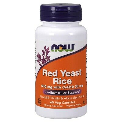 RED YEAST RICE & COQ10 FORMULA 60 Vcaps by Now Foods