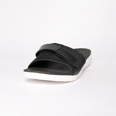 Womens Fitflop Neoflex Black Mix Slide Sandals (TGF30) RRP £44.99
