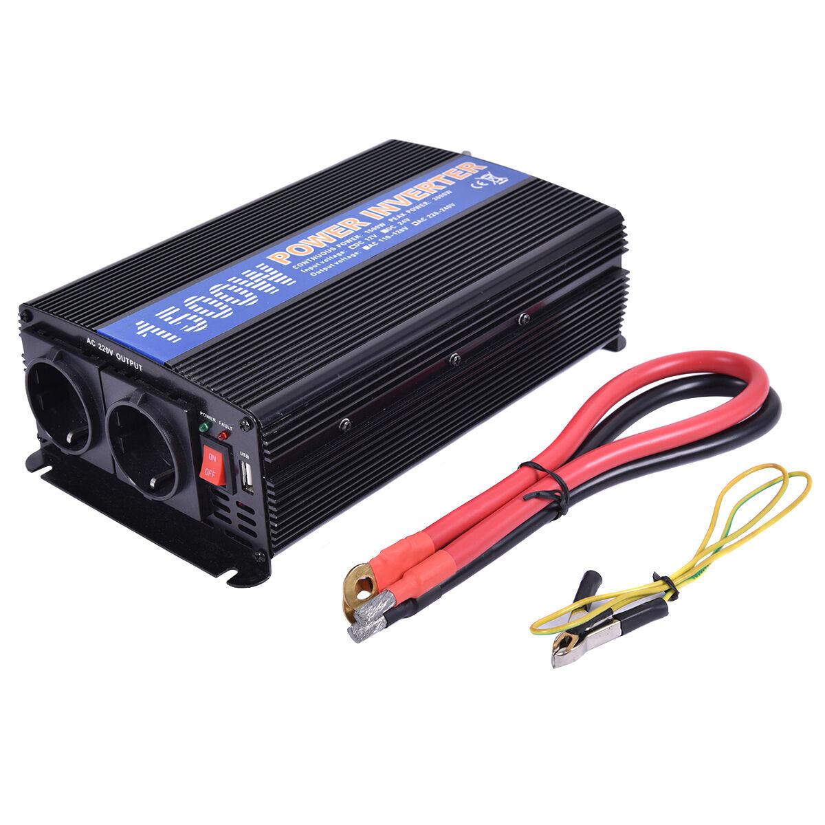 Spannungswandler 1500 3000W Inverter Welchselrichter 12V auf 220/230V