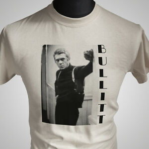 bullitt retro movie t shirt steve mcqueen vintage cool classic hipster tee ebay. Black Bedroom Furniture Sets. Home Design Ideas