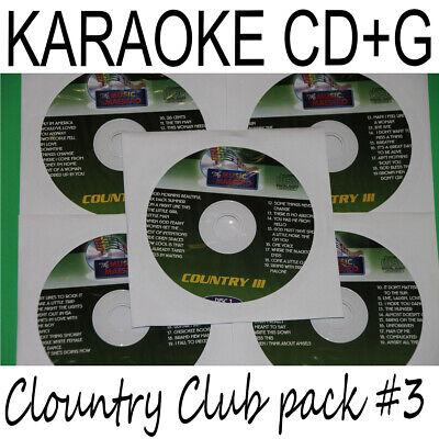 Usado, KARAOKE CD+G COUNTRY CLUB PACK #3 Music Maestro 5 Disc set 100 tracks  segunda mano  Embacar hacia Argentina