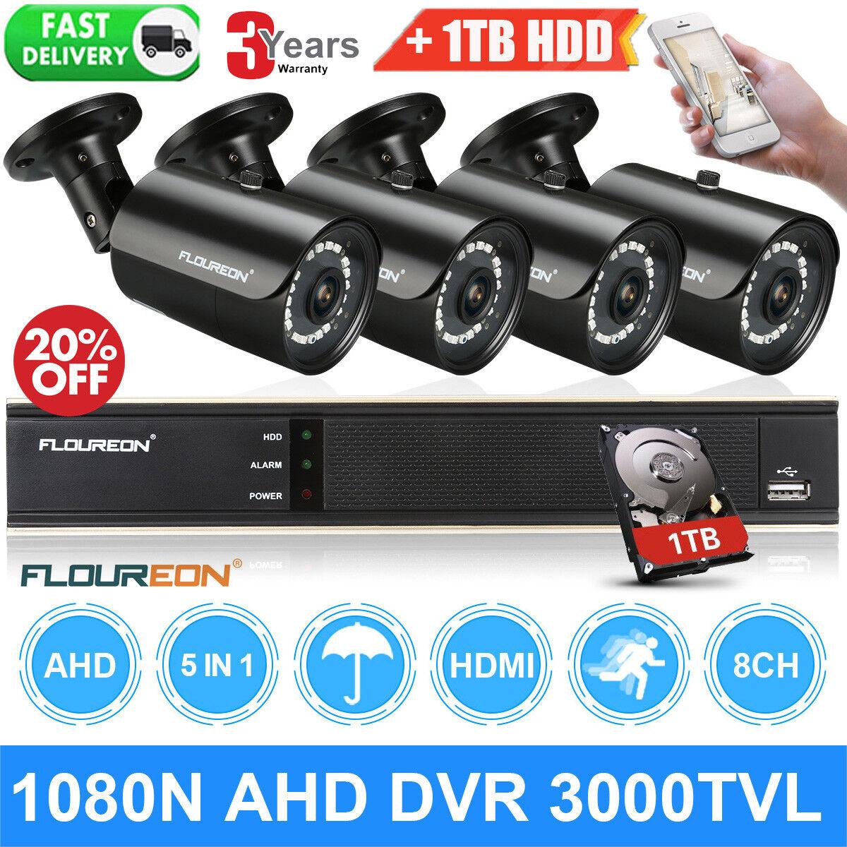Laptop Windows - FLOUREON 8CH 1080N AHD CCTV DVR Outdoor 1080P Camera + 1TB HDD Security System