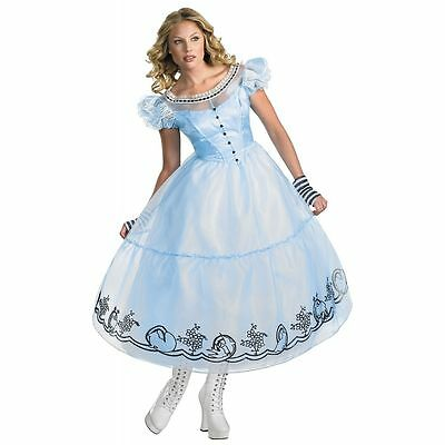 Alice In Wonderland Women's Adult Deluxe Blue Dress Movie Costume