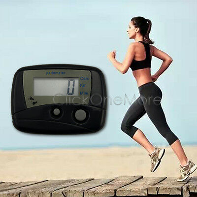 2 X Walking Counter Step Run Distance Cal Digital Pocket Pedometer Clip US