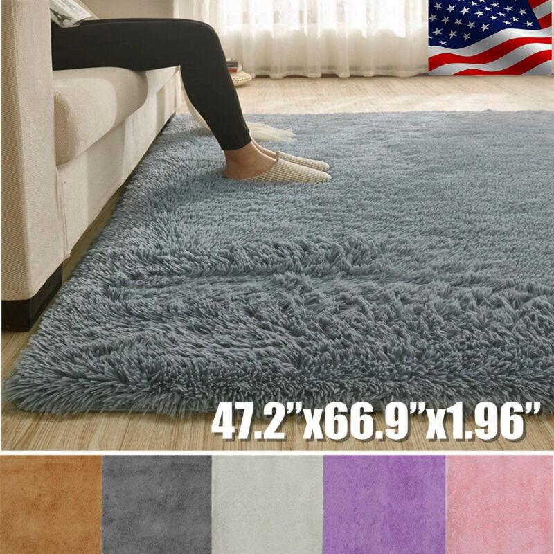 47x67'' Fluffy Rugs Anti-Skid Shaggy Area Rug Home Carpet Floor Mat Kids Playmat