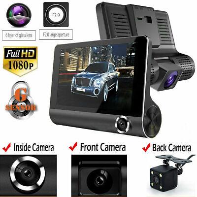 "4""/HD 1080P Dual Lens Rearview Car DVR Camera Video Recorder Dash Cam G-Sensor"
