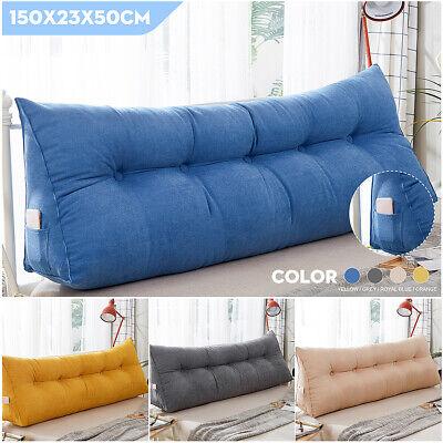 150CM  59'' Triangular Wedge Lumbar Pillow Support Cushion Backrest Soft -