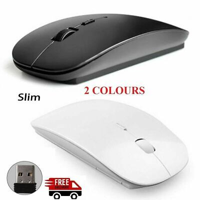 Slim 2.4GHz Optical Wireless Optical Mouse USB Receiver For Laptop PC DELL ACER