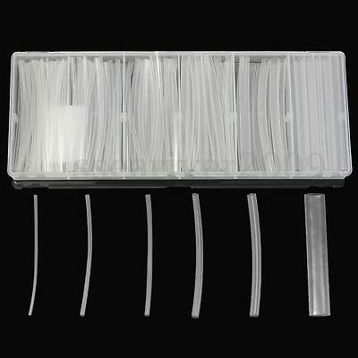 150pcs Clear 100mm 6 Size 1.5-10.0mm Heat Shrink Tubing Wire Wrap Tube Kit Box