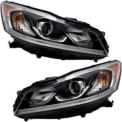 Honda Accord Headlight Assembly - Headlights Headlight Assembly NEW Pair Set For 2016-2017 Honda Accord LX Sedan