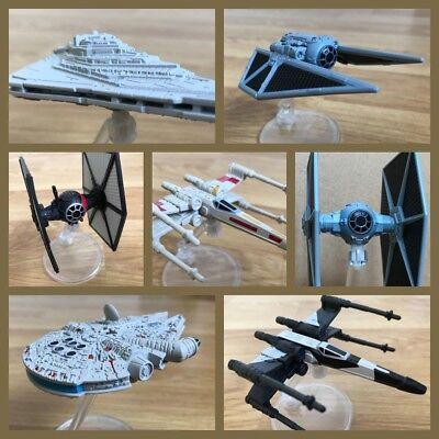 Star Wars Rogue One Force Awakens Hot Wheels Starships inc Stand BNIB
