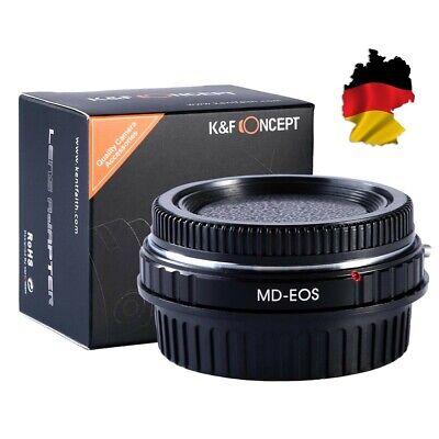 K&F Adaptador, Minolta Md Lentes Sobre Canon EOS Cámara 1100D 1000D 100D...