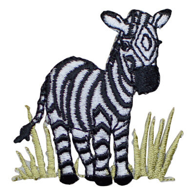 Zebra in the Grass Applique Patch (Iron on) for sale  Benicia