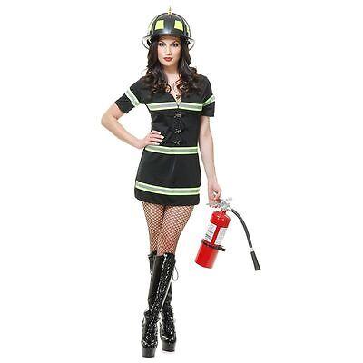 Smokin' Hot Fire Fighter Female Costume size M & L New by Charades - Smokin Hot Firefighter Costume