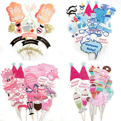 Wedding Photo Booth Prop On A Stick Mustache Party Fun Birthday Babyshower Favor (Baby Shower Mustache Decorations)