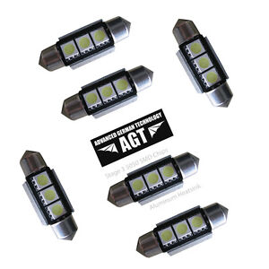 6x  CANBUS error free 6418 36mm 3-5050 smd LED w/heatsink