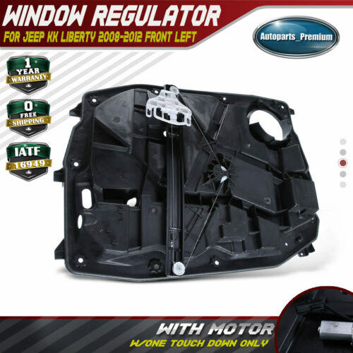 Front Left Window Regular With Motor for 08-12 Jeep Liberty W// 6 Pin Connector