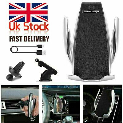 360° Rotation Wireless Automatic Sensor Car Phone Holder and Charger 2 in 1
