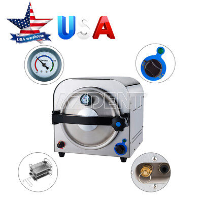 Ups 14l Steam Autoclave Sterilizer Dental Pressure Sterilization Stainless Steel