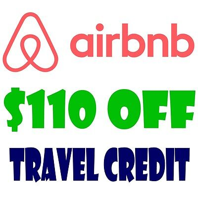 $110 TRAVEL CREDIT $40 OFF AIRBNB DISCOUNT Promo Code NEW ACCOUNTS!READ LISTING!