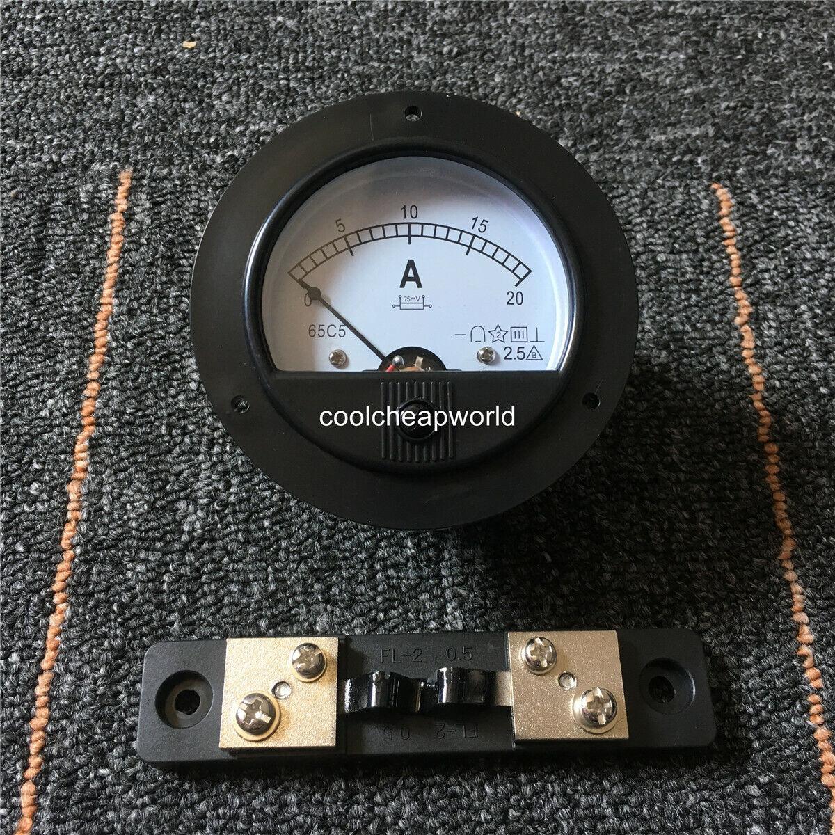 Brand New DC 200A 65C5 Free Shipping Analog AMP Panel Meter