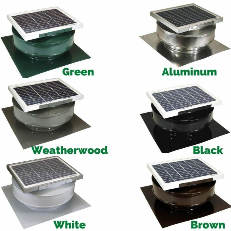 365 CFM EXHAUST ATTIC FAN 5 Watt 12 V Solar Powered Roof Mounted Air Ventilation