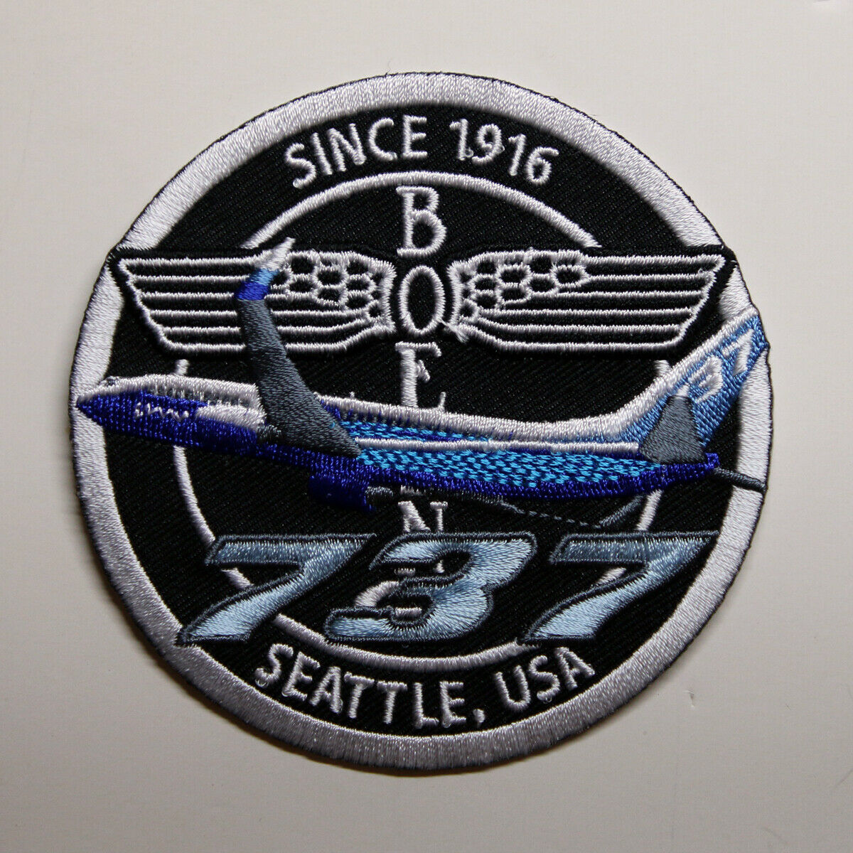 PATCH Boeing B737 Bomber Pilot Jacket sew-on or iron-on large fabric 737