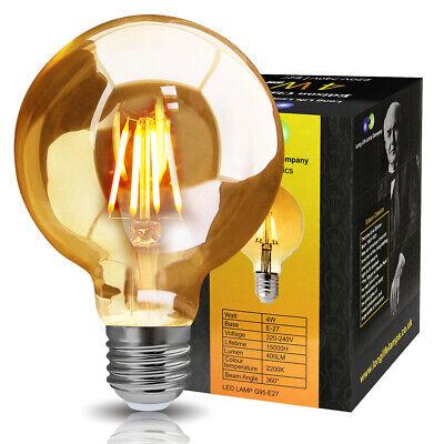 40W Round Edison Squirrel Cage Filament Bulb E27 screw Vintage 4W LED...