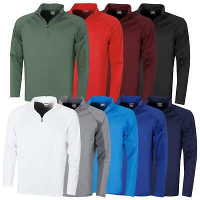 Puma Golf Mens Core 1/4 Zip Cresting Long Sleeve Fleece Popover 45% OFF RRP