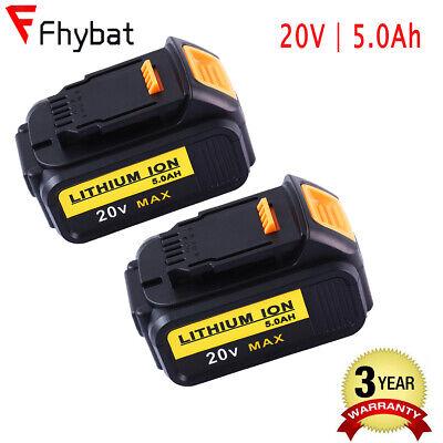 20V 5.0Ah Lithium Li-ion Battery for Dewalt Max XR DCB204 DCB205-2 DCB200 2pack