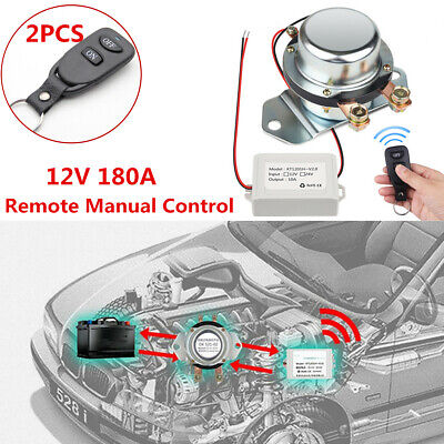 12V Car Battery Switch Wireless Remote Manual Control Disconnect Latching Relay