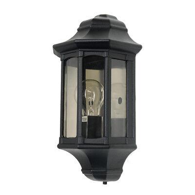 Garden Zone Newbury Half Lantern 1 x 60W E27 220-240v 50hz IP44 Class I