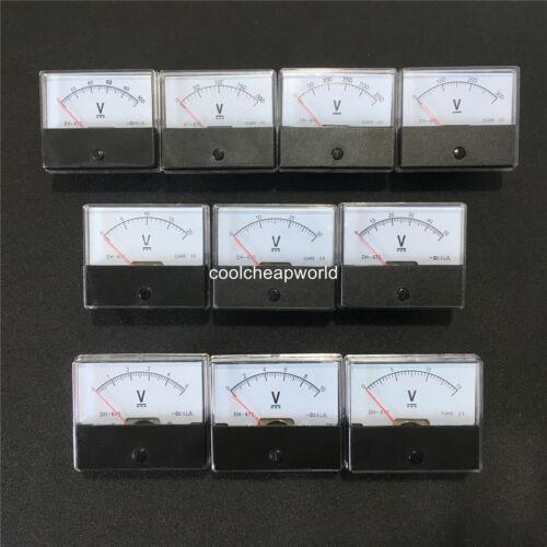 Analog Volt Voltage Panel Meter Voltmeter DC 5V 10V 20V 30V 50V 100V 200V 300V