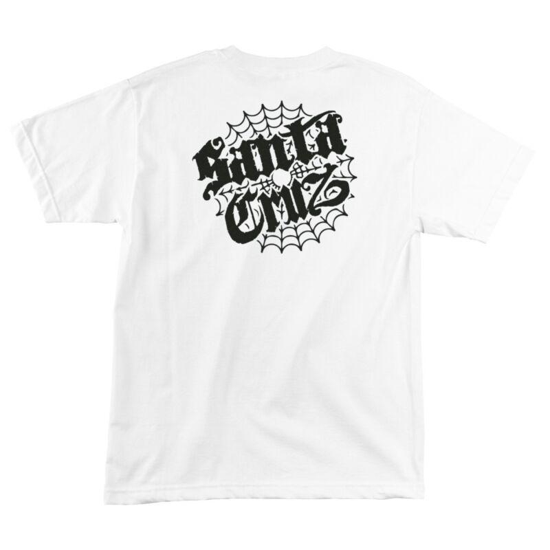Santa Cruz COBWEB DOT Skateboard T Shirt WHITE MEDIUM