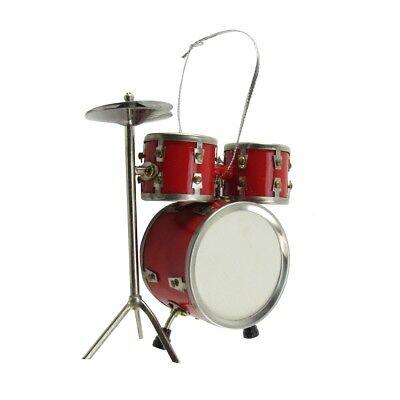 Miniature Drum Set Musical Instrument Realistic Ornament Musician/Drummer Gift - Music Ornaments