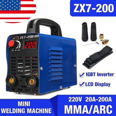 Digital 200a Mma Arc Electric Welding Machine Kit Dc Igbt Inverter Rod Stick