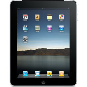 Apple iPad 1st Generation 32GB, Wi-Fi + 3G 9.7in - Black (MC496LL/A) (F)