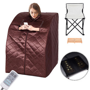 Portable Far Infrared Sauna Spa Full Body Slimming Loss Weight Detox Therapy