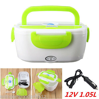 12V Portable Electric Heated Car Plug Heating Lunch Box Bento Travel Food Warmer