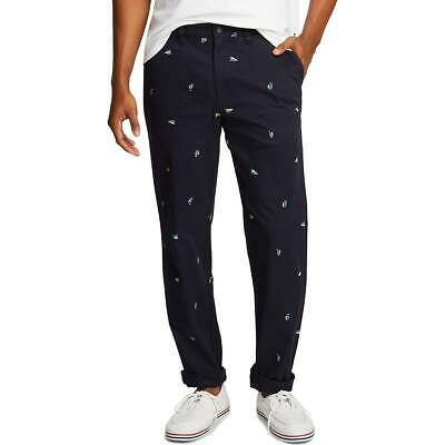 Nautica Mens Printed Twill Classic Fit Straight Leg Pants BHFO 4892