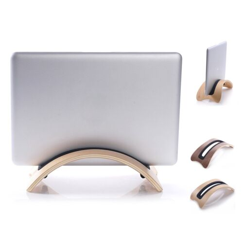 Solid Wood Stand Dock Desk Holder Base Display Rack For Macbook Air Pro Laptop