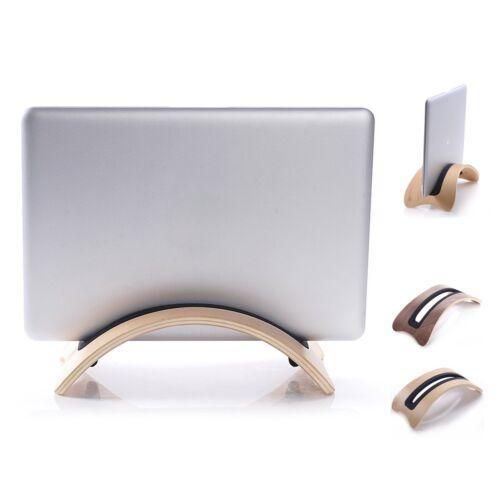 Solid Wood Stand Dock Desk Holder Base Display Rack For Macbook Air Pro Laptop