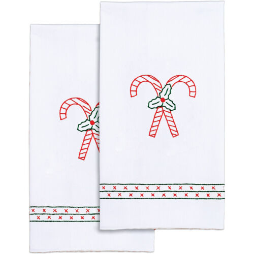 """Jack Dempsey Stamped White Decorative Hand Towel, 17"""" x 28"""
