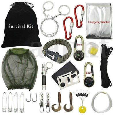 Outdoor Hiking Camping Emergency Survival Kits Tool Set Firs
