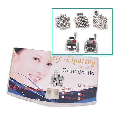 Orthodontic Dental Active Self-ligating Brackets Mbt 0.022 Hook 345 With Tool