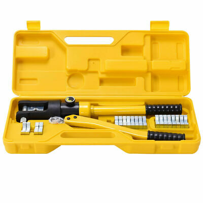 8 Ton Hydraulic Wire Cable Terminal Crimper Crimping Tool Pliers Set w// 9 Dies