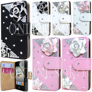 Luxury-3d-Diamond-Crystal-Bling-Pu-Leather-Card-Wallet-Case-For-iphone-4s-5s-5c