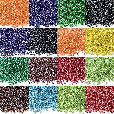 Lot of 900 Opaque Economical 11/0 Rocaille 1.8mm Small Round Glass Seed Beads (Small Beads)