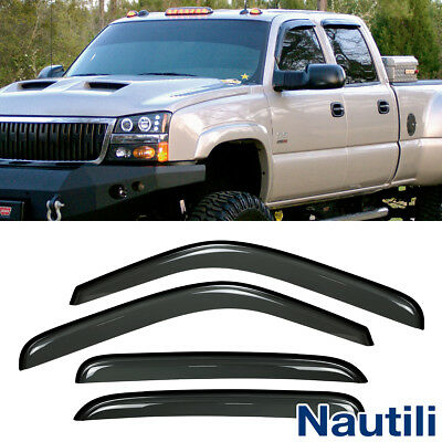 Vent Shade Window Visors For Chevy/GMC/Cadillac Crew Cab SUV Sun Rain Guard