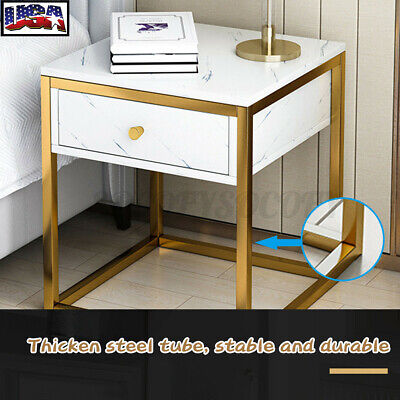 Side End Coffee Table Storage Shelves Sofa Couch Living Room Furniture Holder